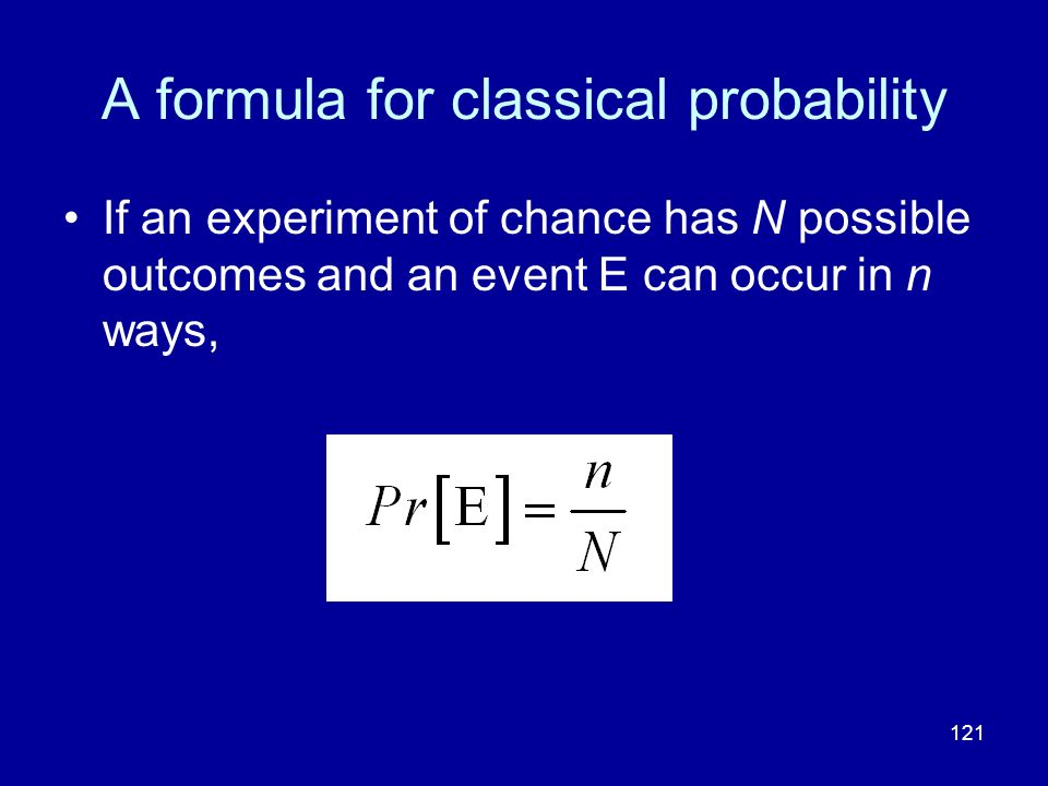 A formula for classical probability