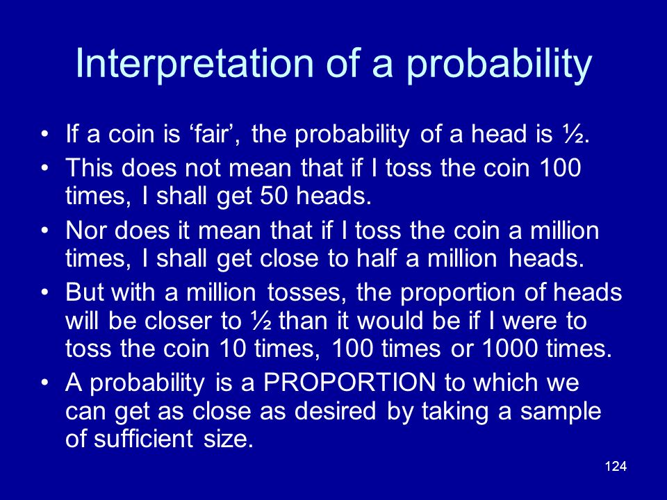 Interpretation of a probability