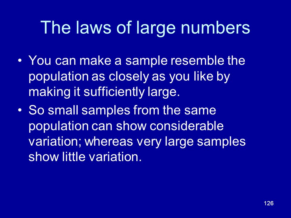 The laws of large numbers