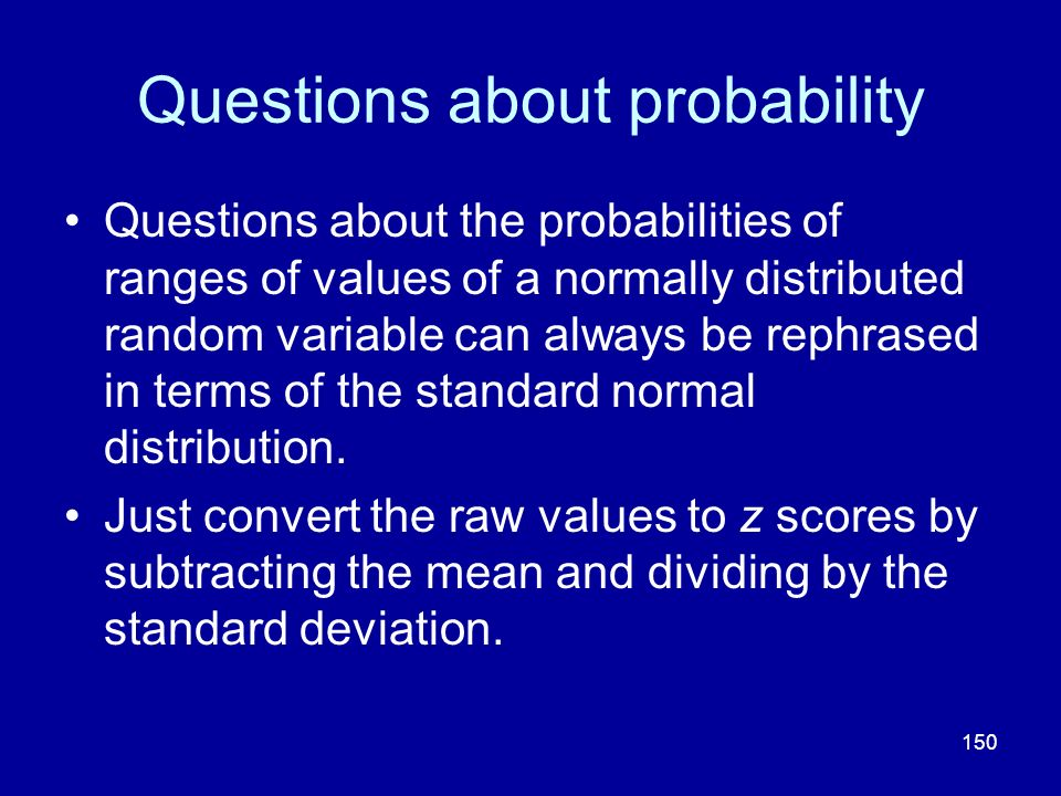 Questions about probability