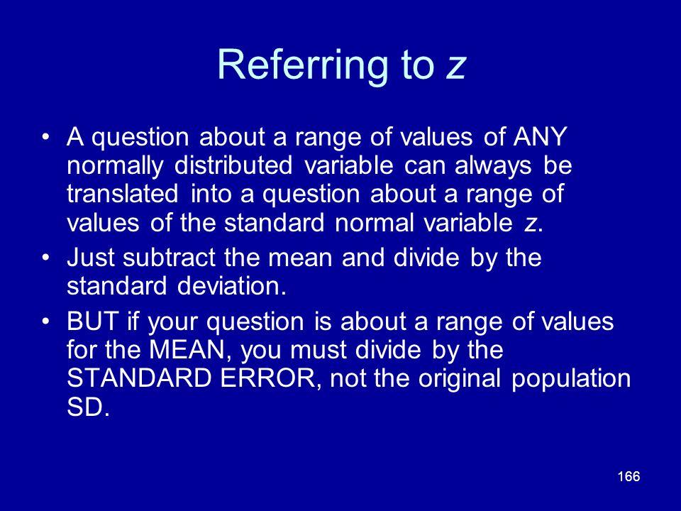 Referring to z