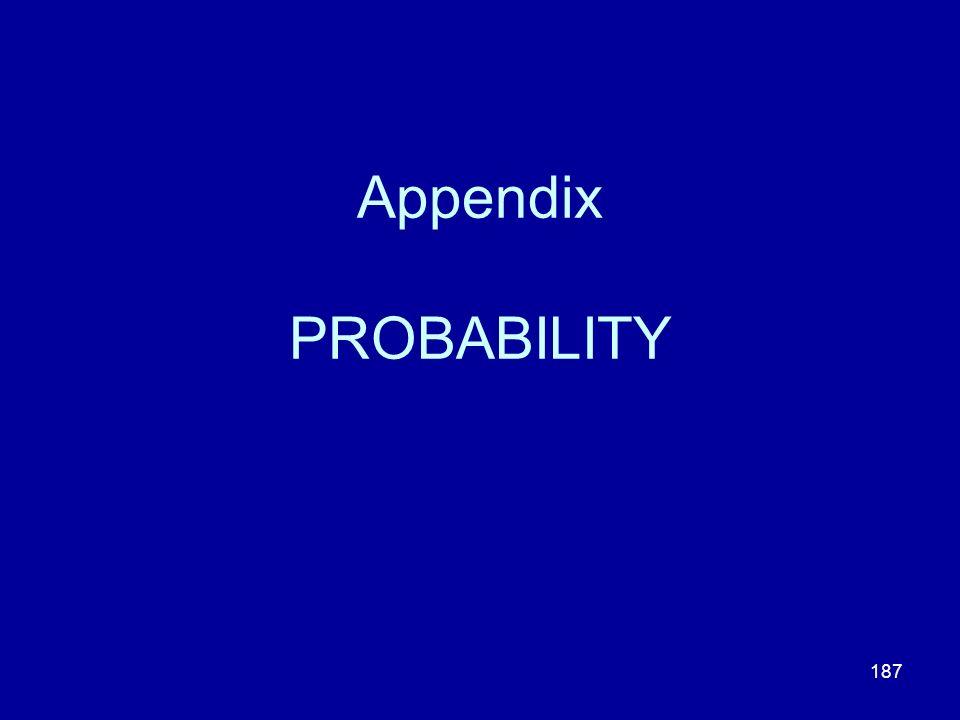 Appendix PROBABILITY
