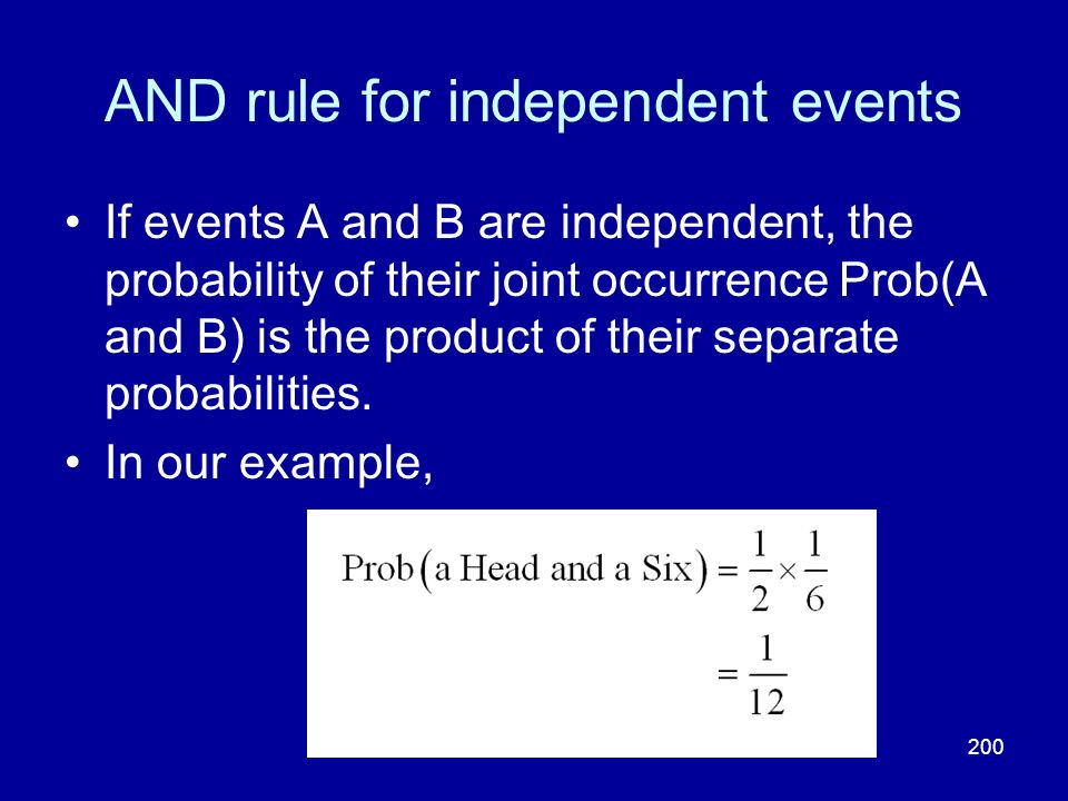 AND rule for independent events