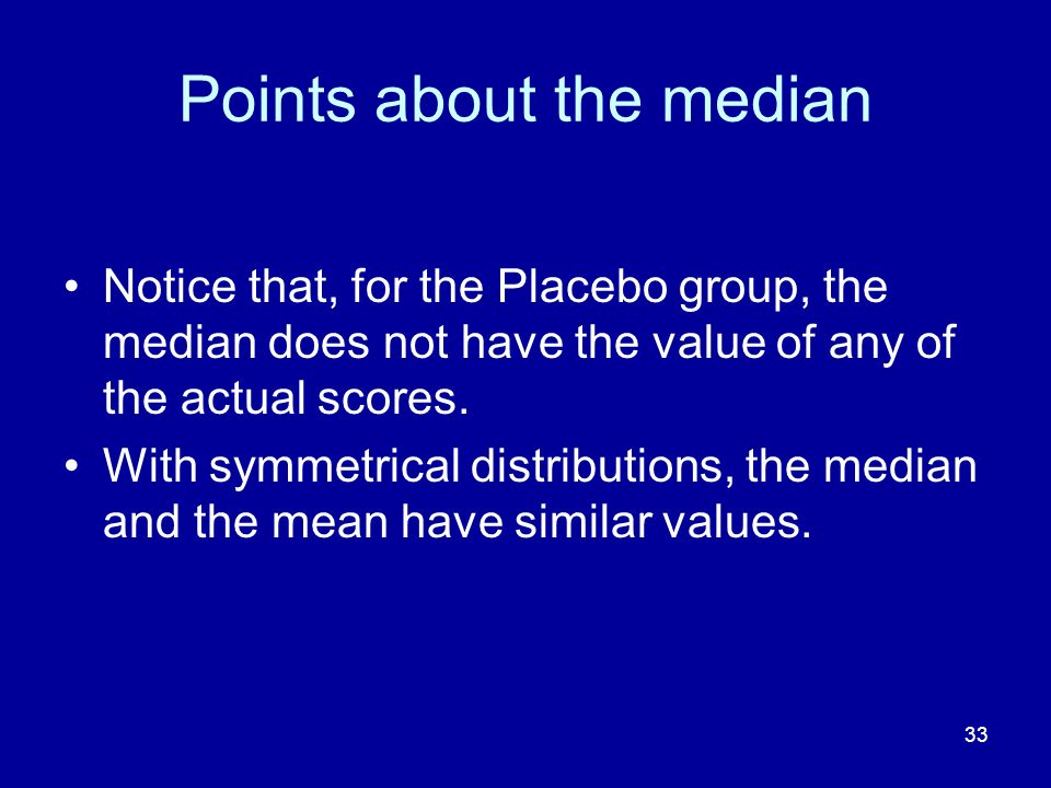 Points about the median
