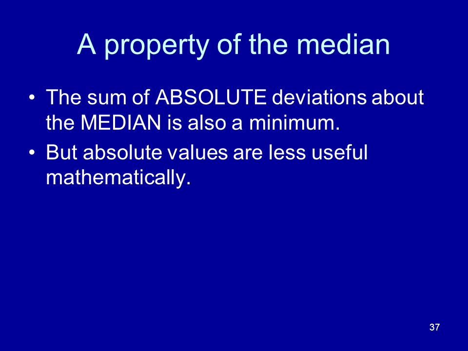 A property of the median
