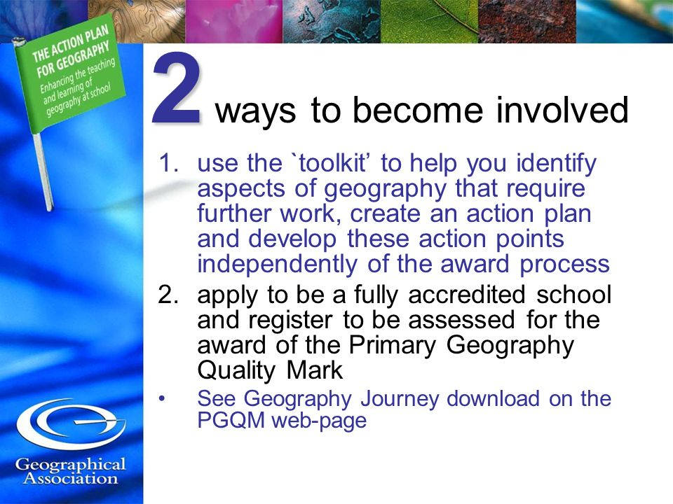 2 ways to become involved