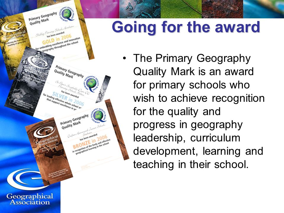 Going for the award