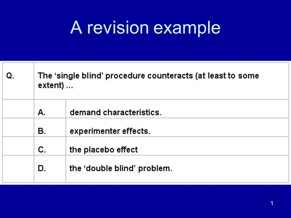 A revision example