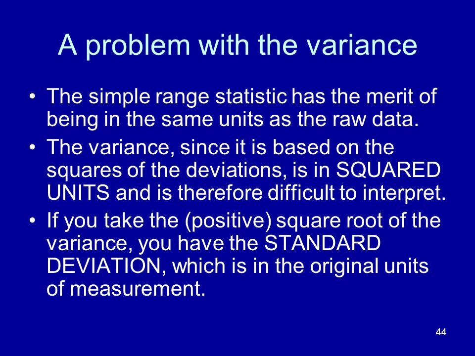 A problem with the variance