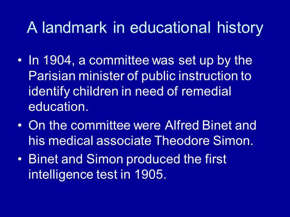 A landmark in educational history