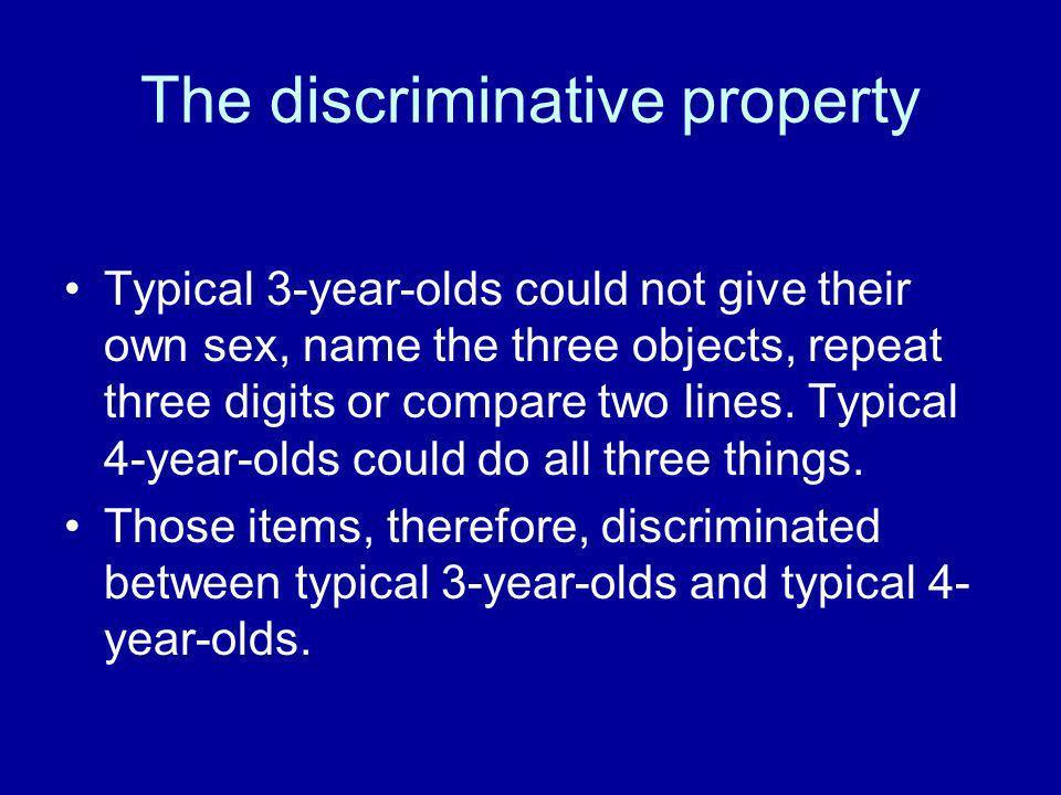 The discriminative property