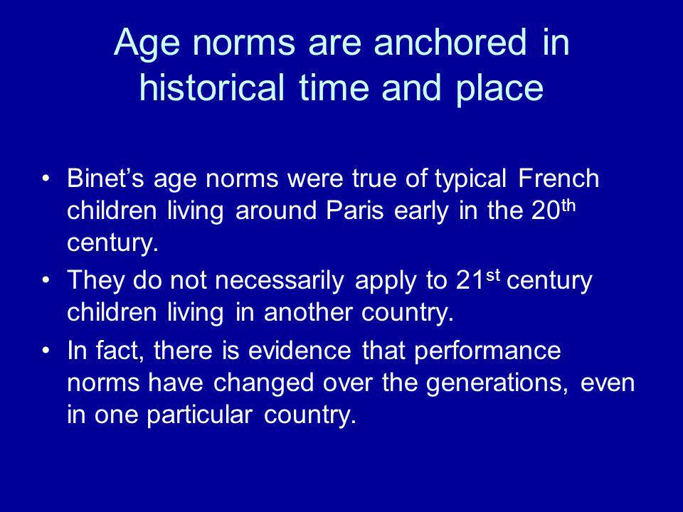 Age norms are anchored in historical time and place