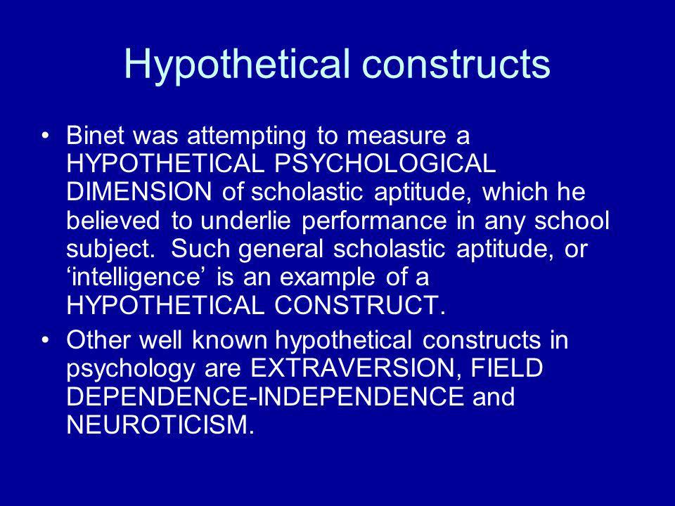 Hypothetical constructs