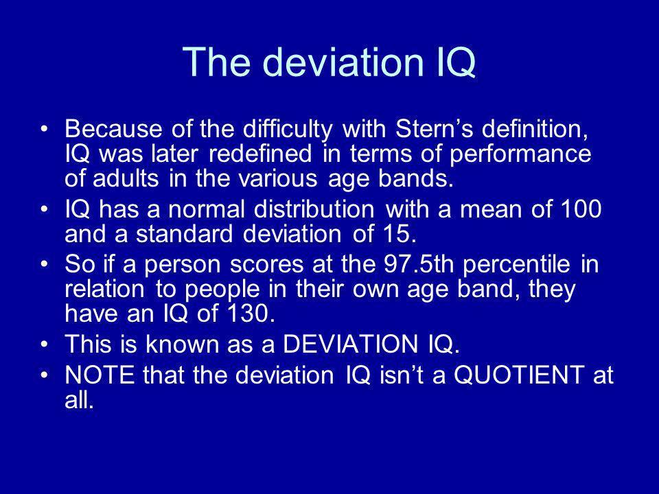 The deviation IQ
