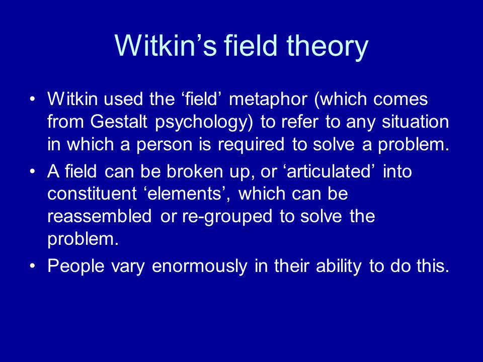 Witkin's field theory