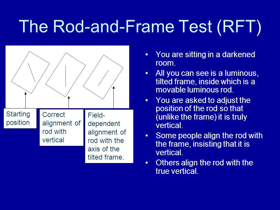 The Rod-and-Frame Test (RFT)