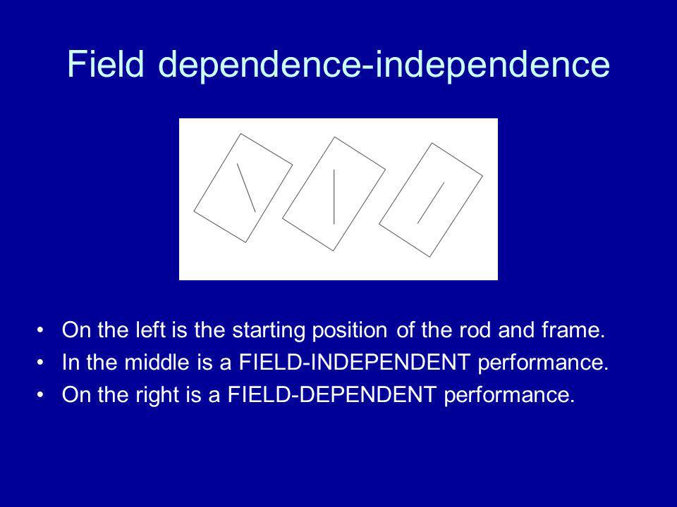 Field dependence-independence