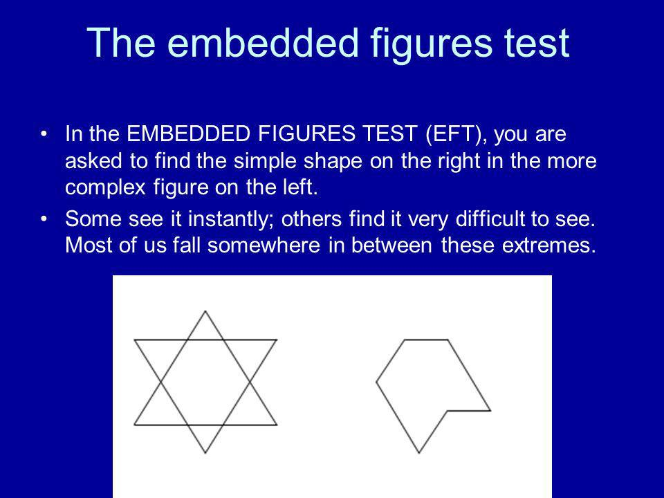 The embedded figures test