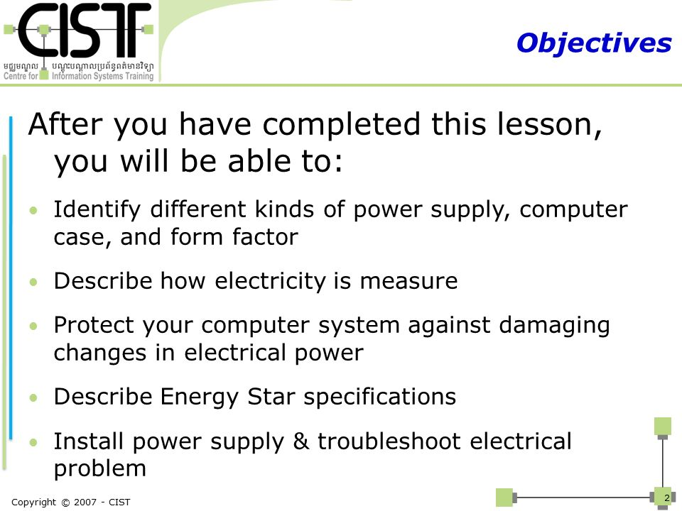 Chapter 3: Power supplies and Form Factors - ppt video online download