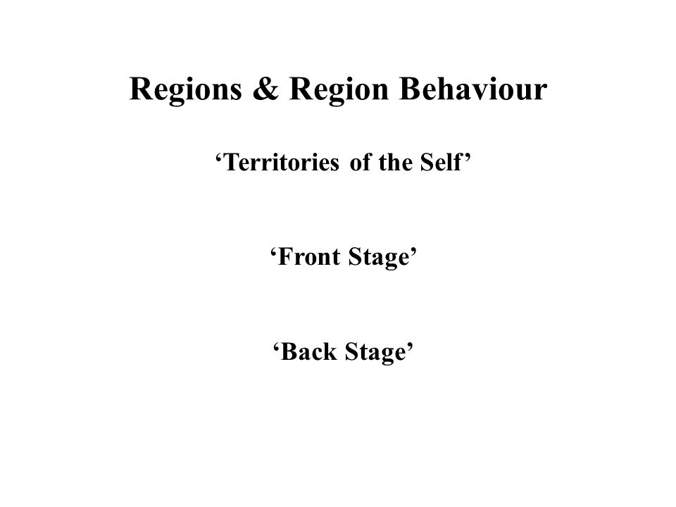 Regions & Region Behaviour