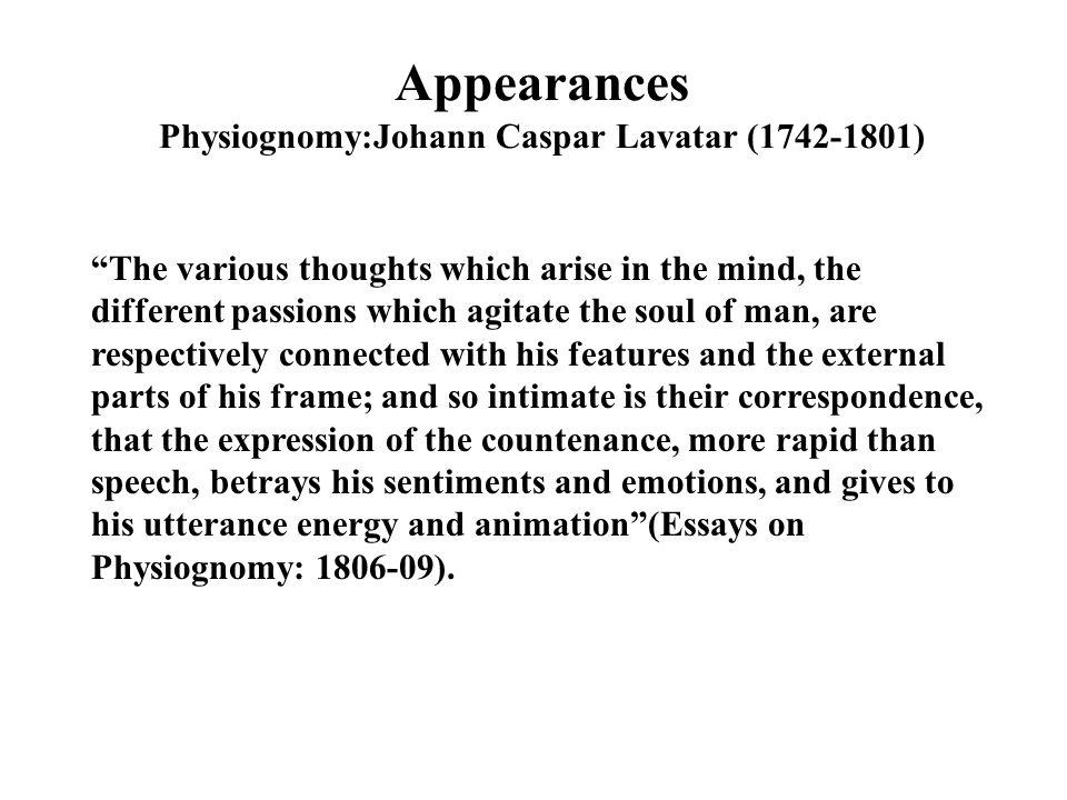 Appearances Physiognomy:Johann Caspar Lavatar (1742-1801)
