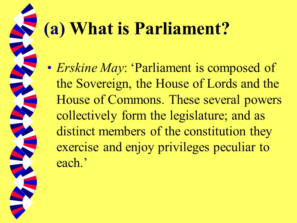 (a) What is Parliament