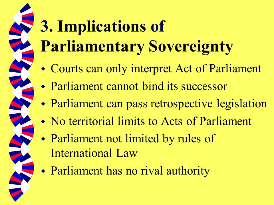 3. Implications of Parliamentary Sovereignty