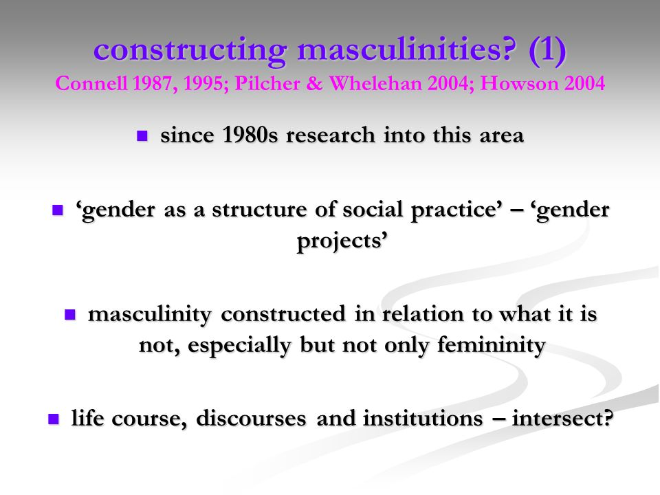 constructing masculinities