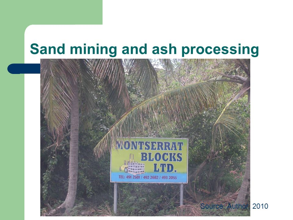 Sand mining and ash processing