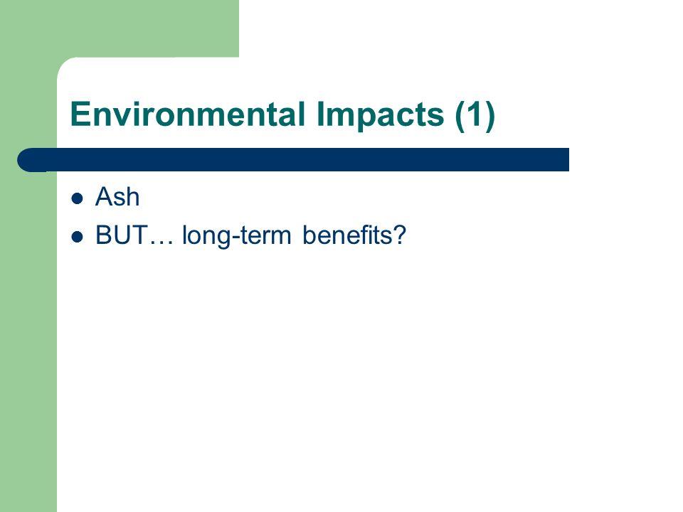 Environmental Impacts (1)