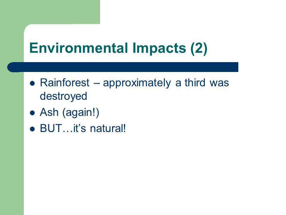 Environmental Impacts (2)