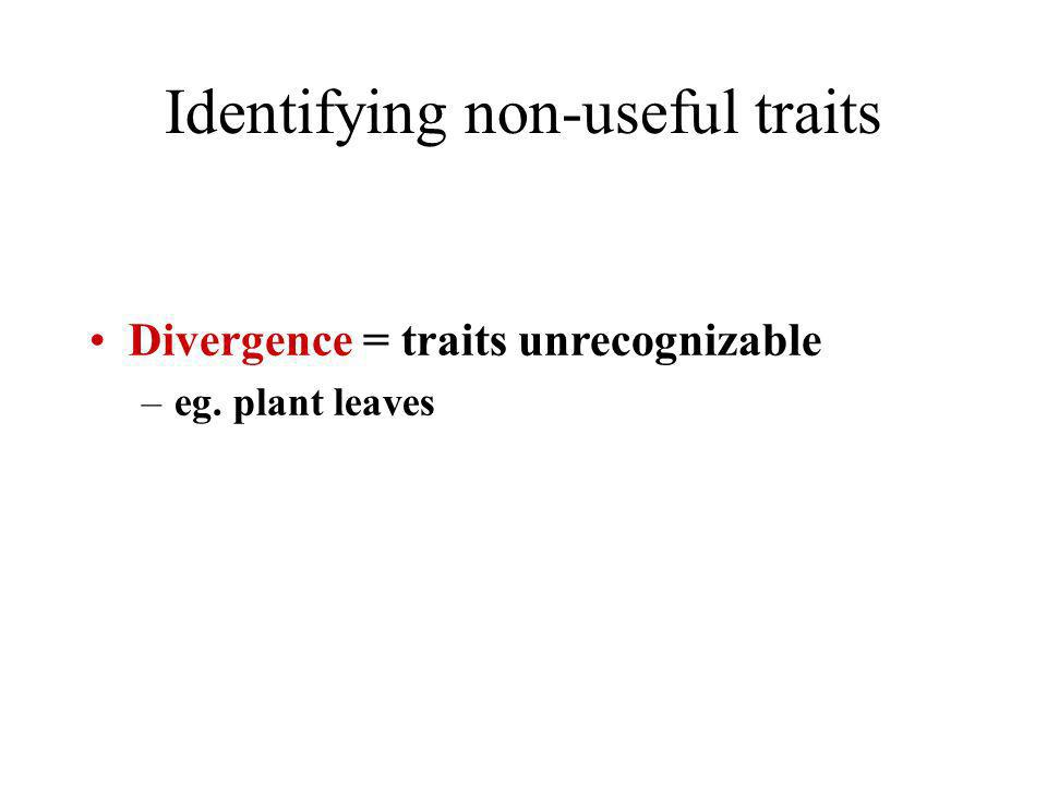 Identifying non-useful traits