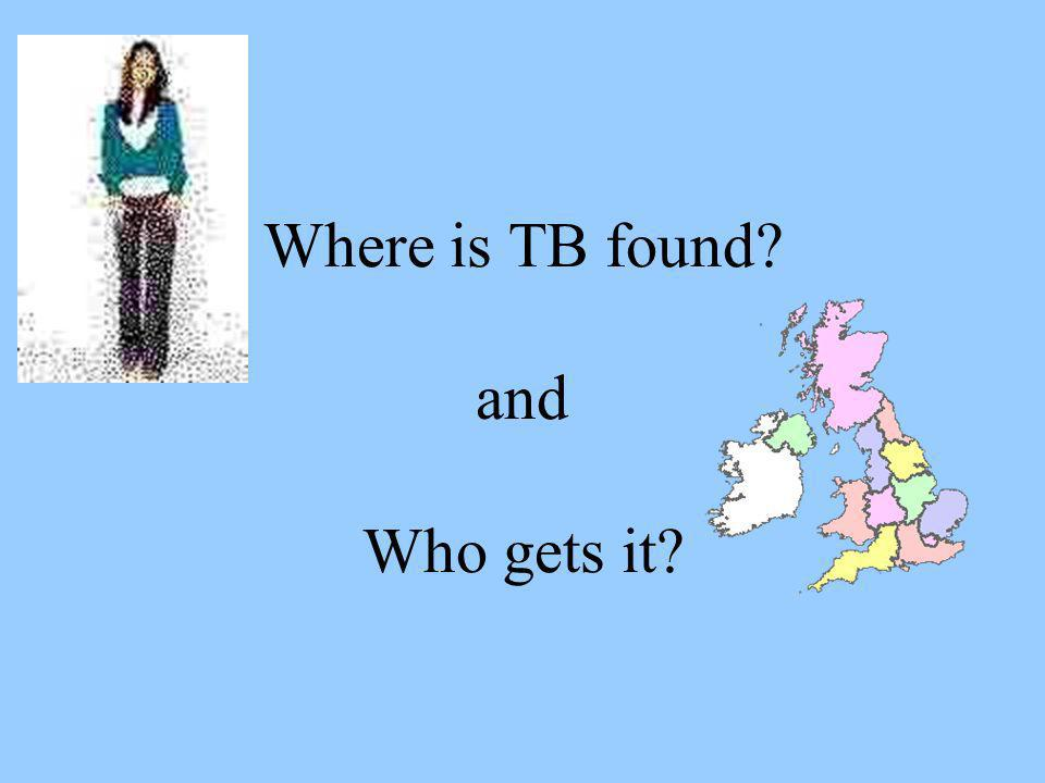 Where is TB found and Who gets it