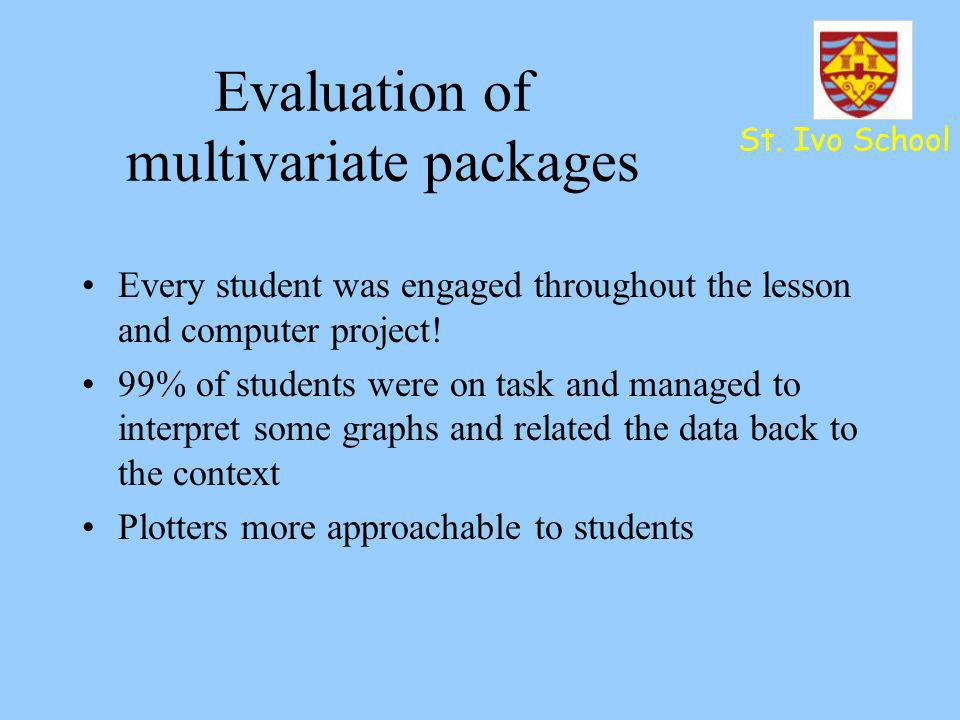 Evaluation of multivariate packages