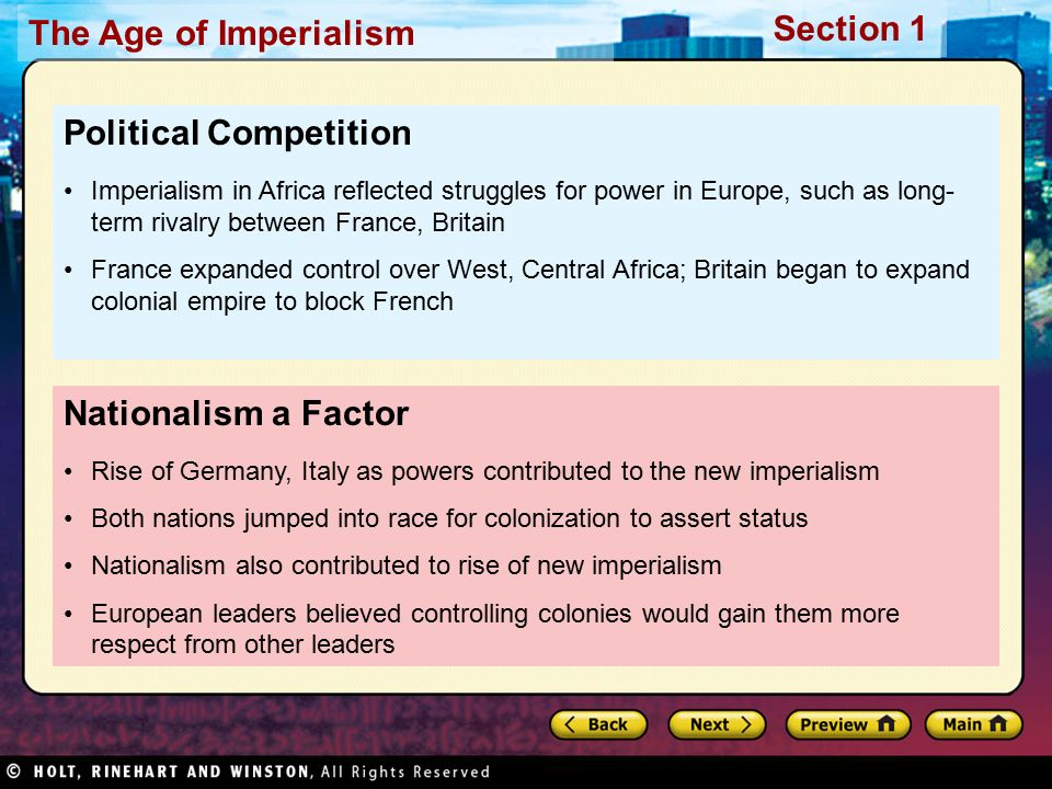 """motives that contributed to imperialism What are various motives that contributed to the """"new imperialism"""" pursued by european countries in the late nineteenth century."""