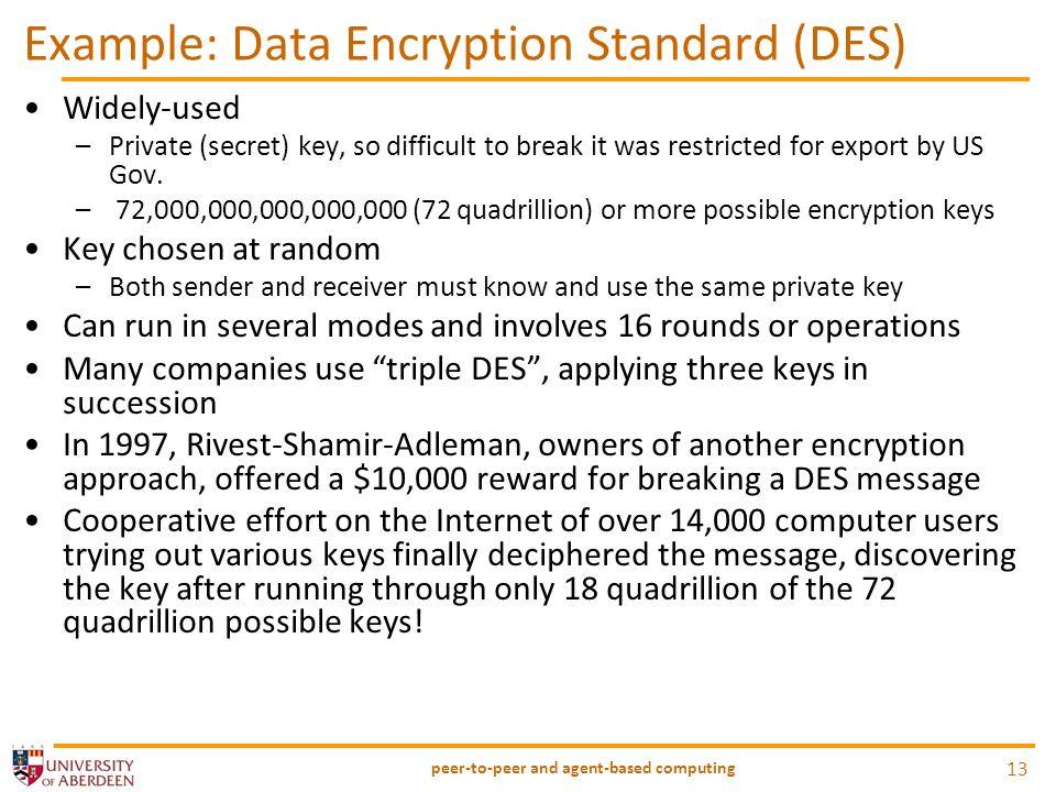 Example: Data Encryption Standard (DES)