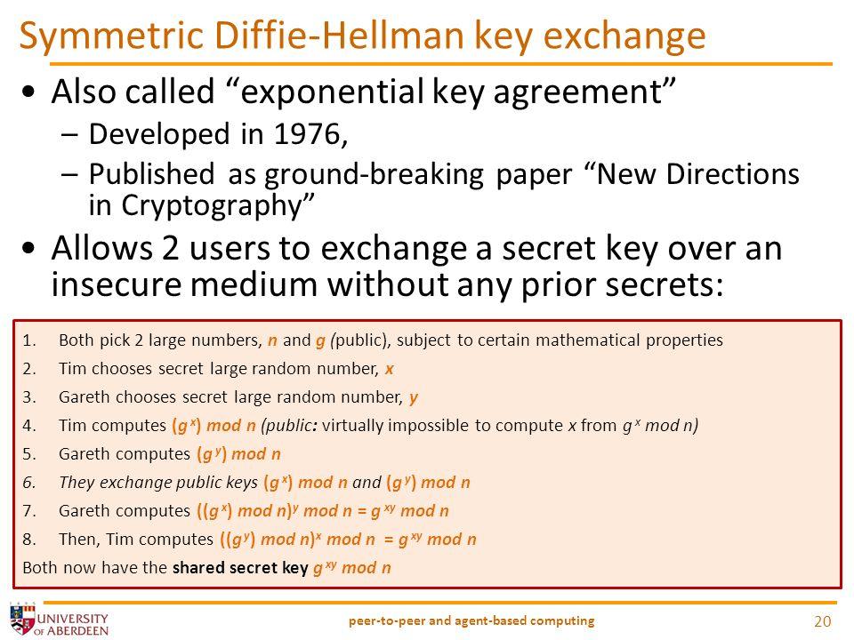 Symmetric Diffie-Hellman key exchange