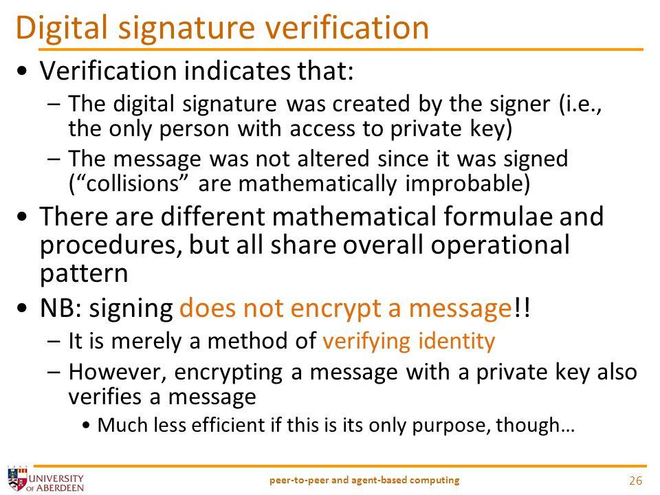 Digital signature verification
