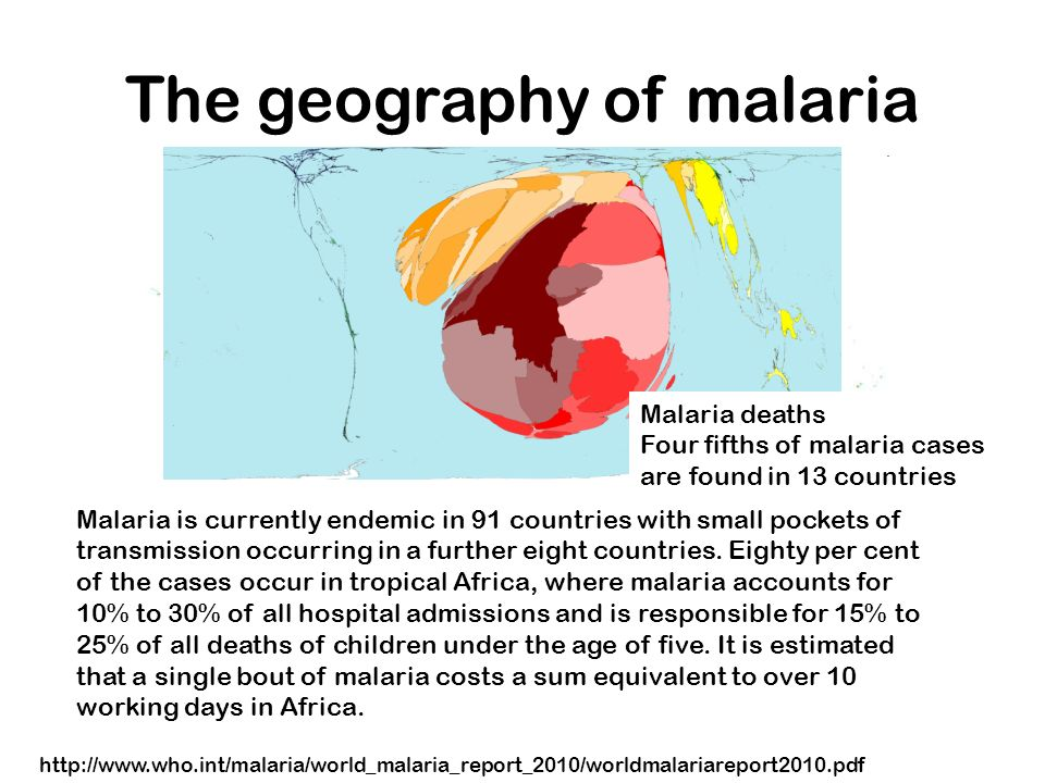 The geography of malaria