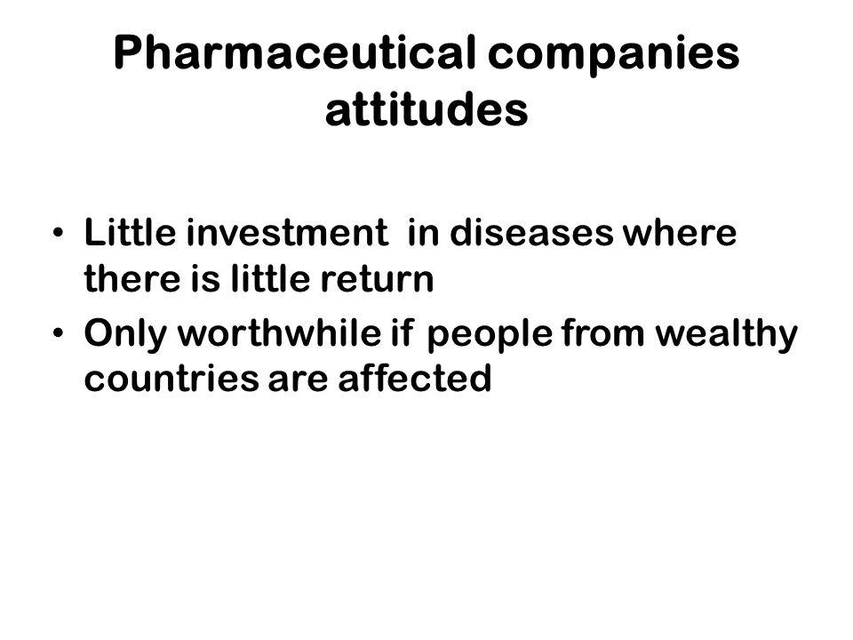 Pharmaceutical companies attitudes