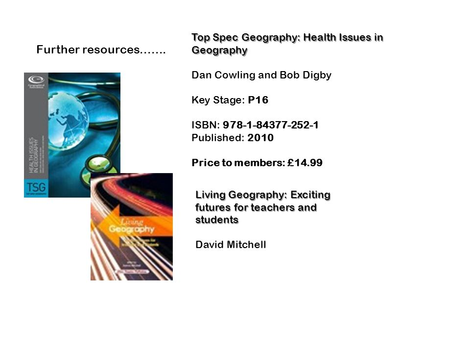 Top Spec Geography: Health Issues in Geography
