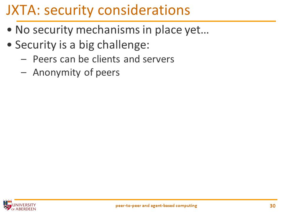 JXTA: security considerations