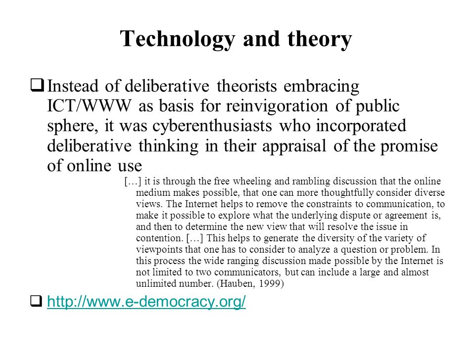 Technology and theory