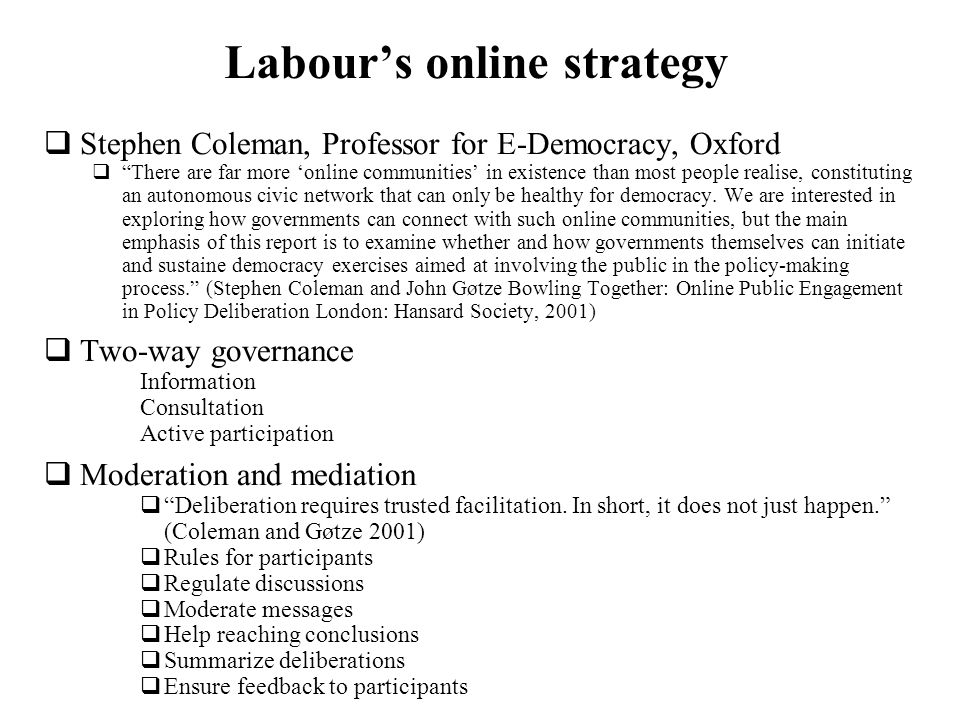 Labour's online strategy