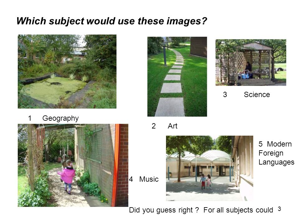 Which subject would use these images