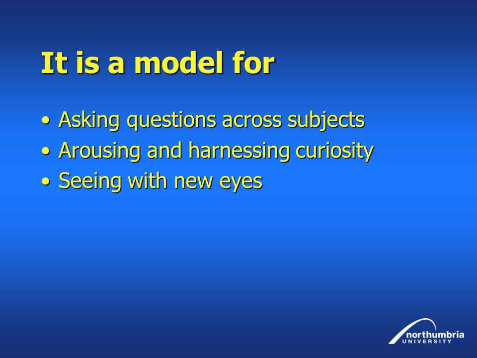 It is a model for Asking questions across subjects