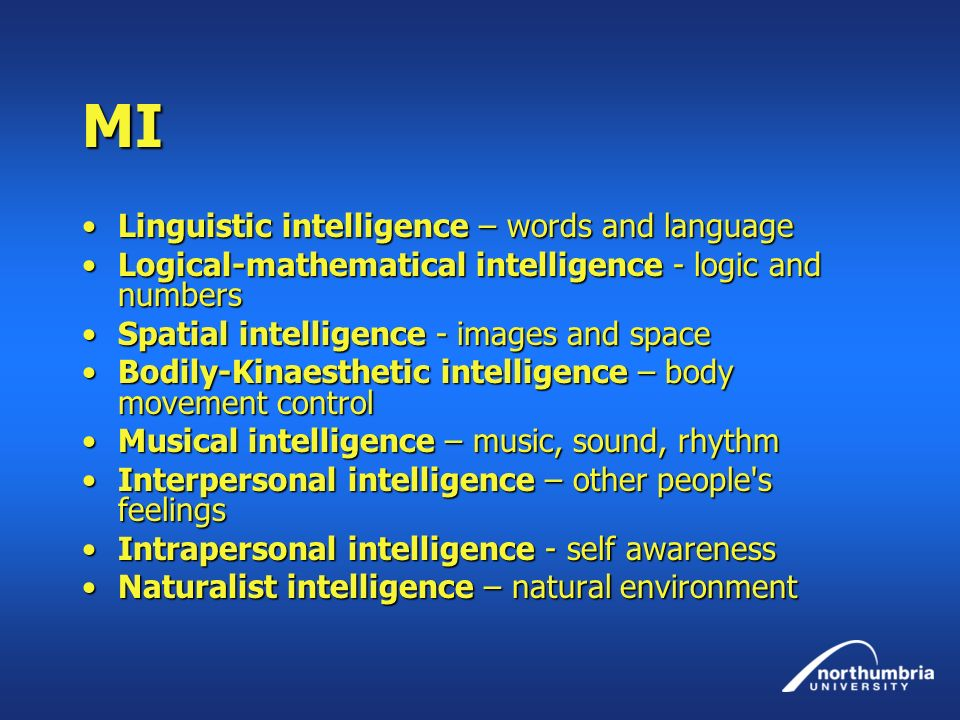 MI Linguistic intelligence – words and language