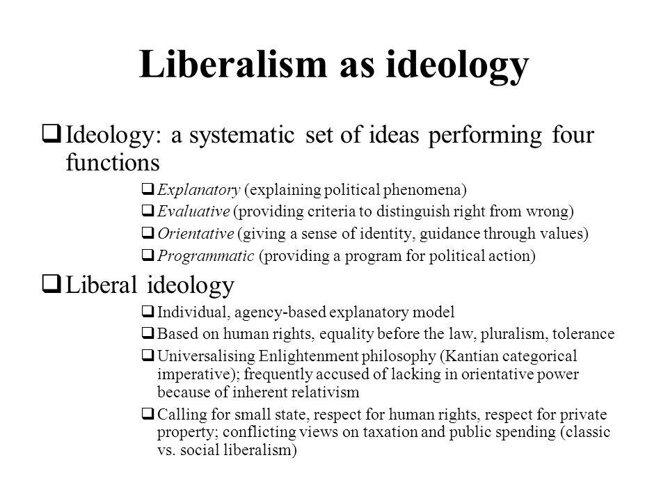 Liberalism as ideology