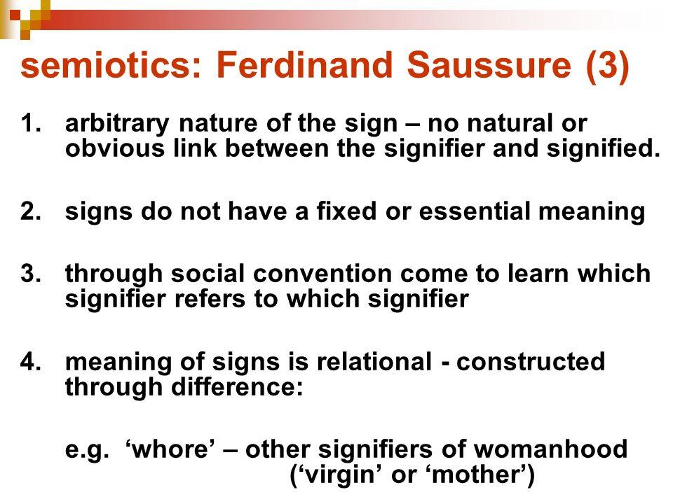 semiotics: Ferdinand Saussure (3)