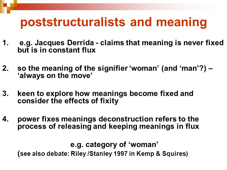 poststructuralists and meaning